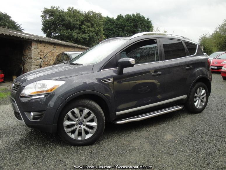 ford kuga 2 0 tdci 140 titanium 4 2 gris meteor vendu breat auto. Black Bedroom Furniture Sets. Home Design Ideas