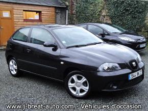 seat ibiza 1 4 16v sport noire vendu breat auto. Black Bedroom Furniture Sets. Home Design Ideas