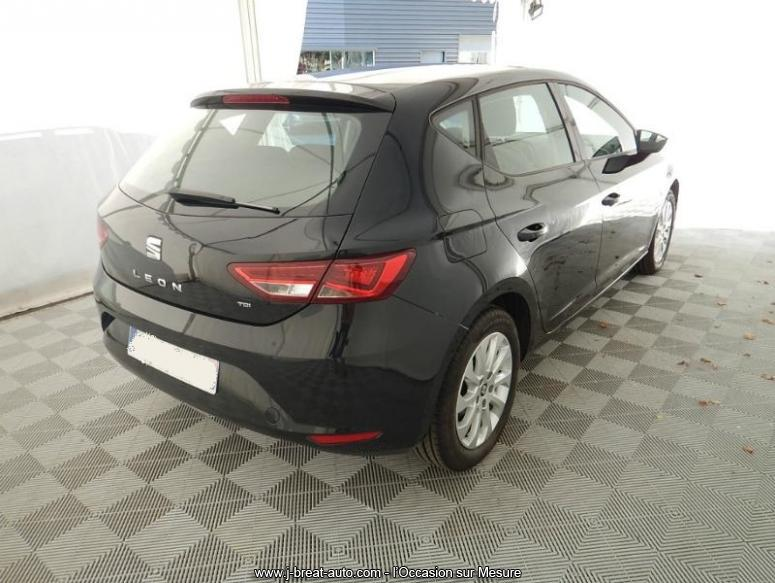 seat leon 1 6 tdi 105 style business start stop noire vendu breat auto. Black Bedroom Furniture Sets. Home Design Ideas